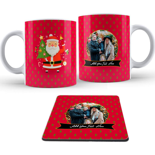 Personalised Santa Has Arrived Mug and Coaster design-your-gift.