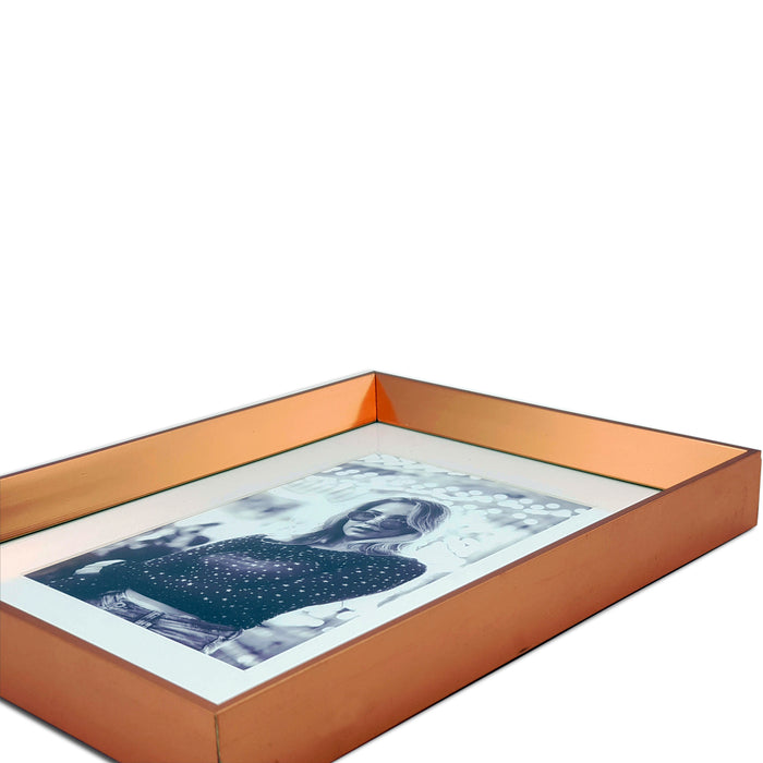 Rose Gold Photo Frame with 5x7 photo print close up