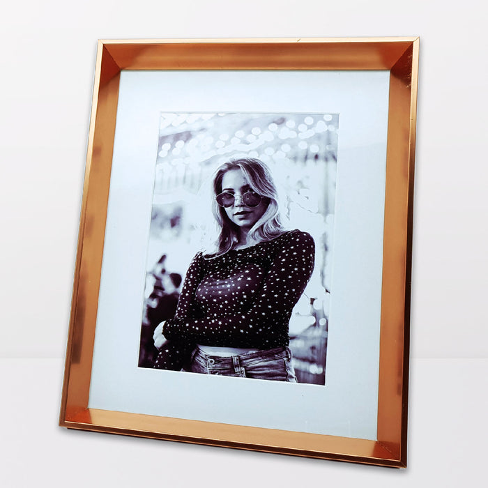 Rose Gold Photo Frame with 5x7 photo print