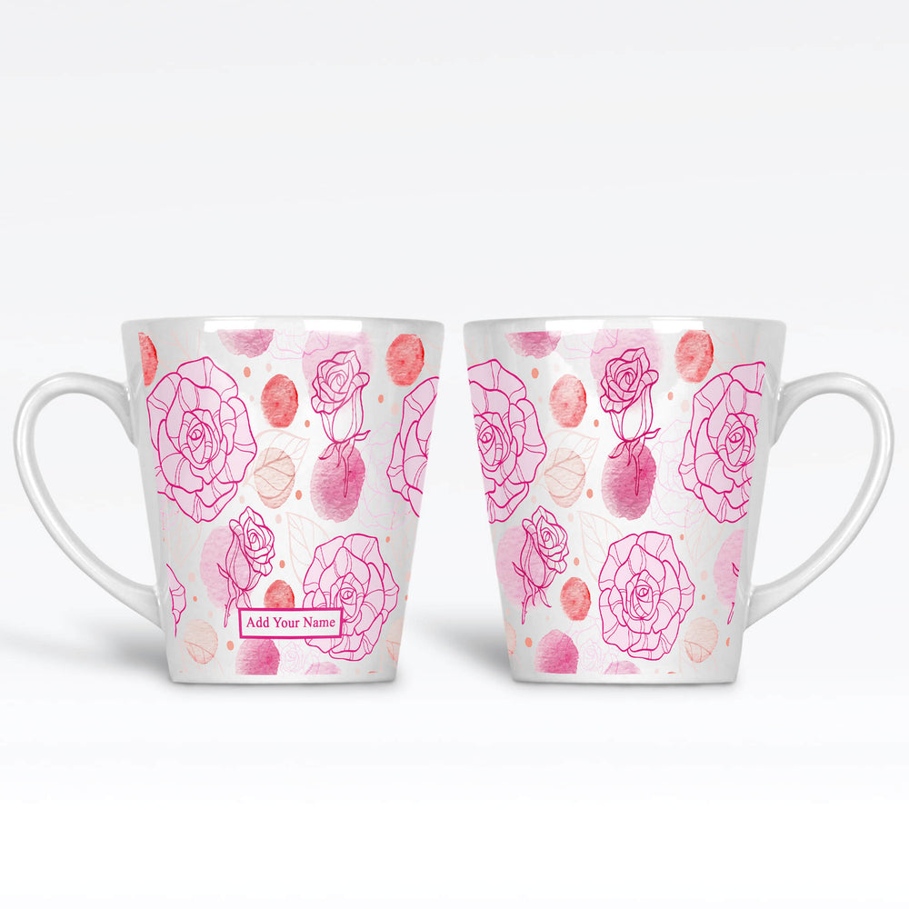 Name Mug - Roses Theme | Latte Mug design-your-gift.