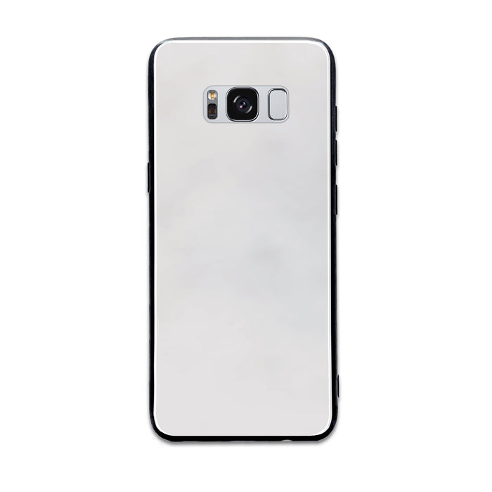 Blank Samsung Galaxy S8+ Glass phone case with Back rubber edges