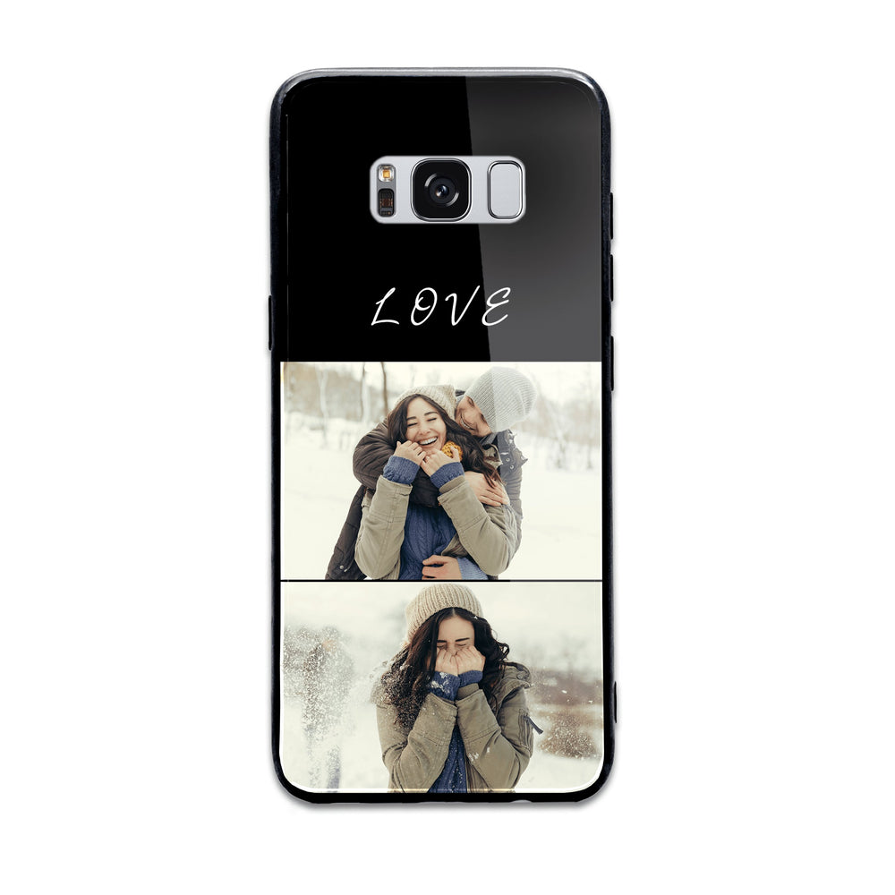 2 Photo Collage - Samsung Galaxy S8  Glass Phone Case design-your-gift.