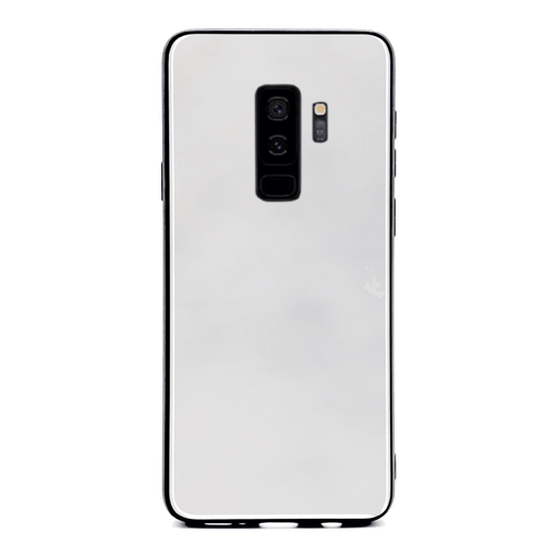 Blank Samsung Galaxy S9+ Glass phone case with Back rubber edges