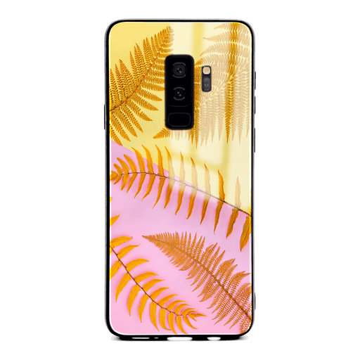 Samsung Galaxy S9+ glass phone case with feria wild ombre design