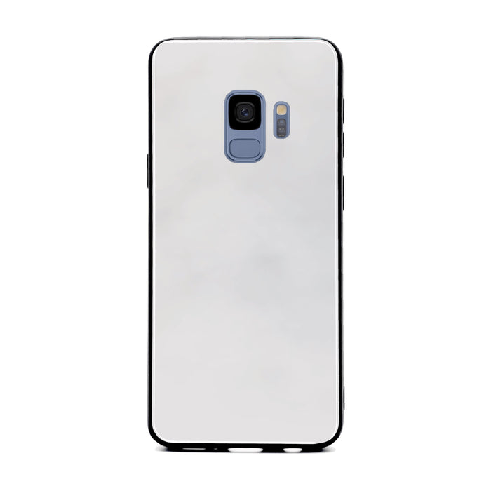 Blank Samsung Galaxy S9 Glass phone case with Back rubber edges