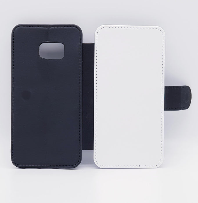 3 Photo Collage | Galaxy S7 Edge Wallet Phone Case - back and front blank visual