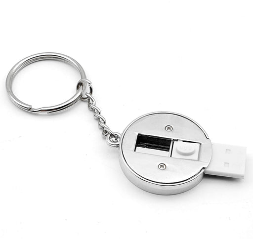 Personalised USB Stick With Key-Ring Back with the stick opened