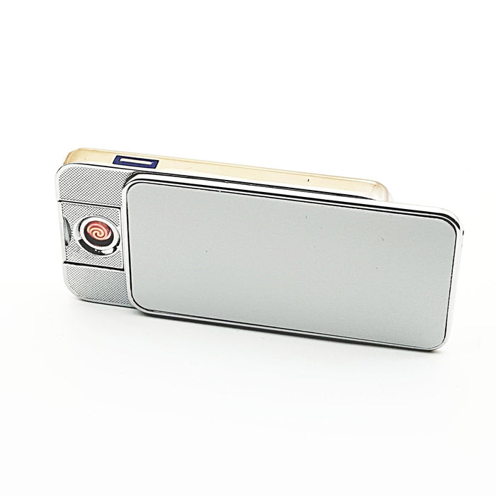 Silver personalised lighter front