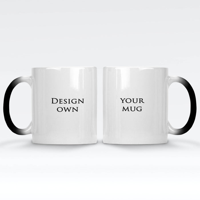 personalised hot black magic mug front and back