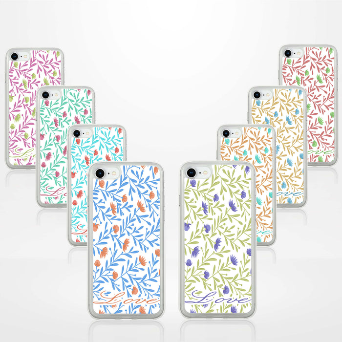 Floral Design with Name - iPhone Clear Phone Case design-your-gift.