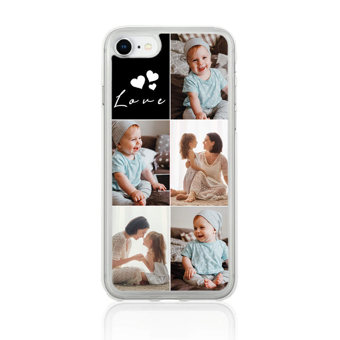 5 Photo Collage - iPhone Clear Phone Case design-your-gift.