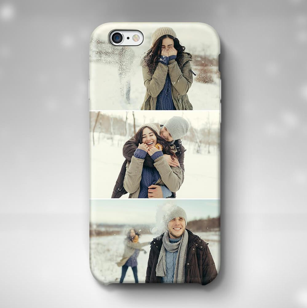 3 Photo Collage Phone 6 3D Personalised Phone Case designyourgift.co.uk