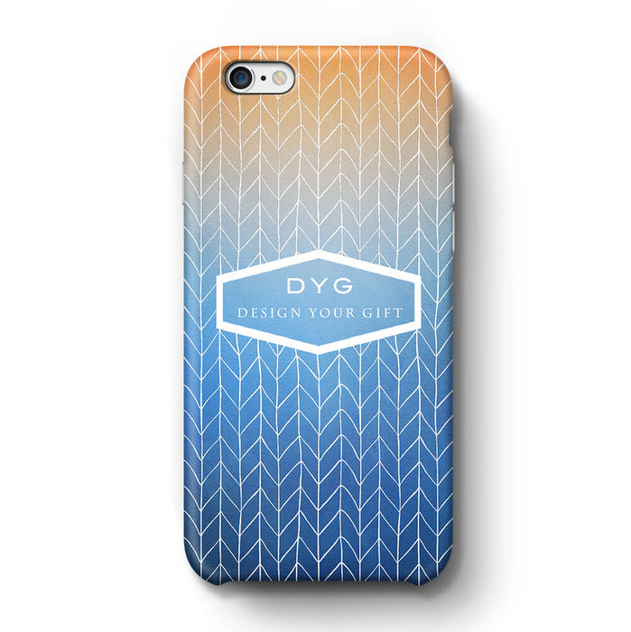 ZigZag Ombre With Text iPhone 6 3D Personalised Phone Case blue sky