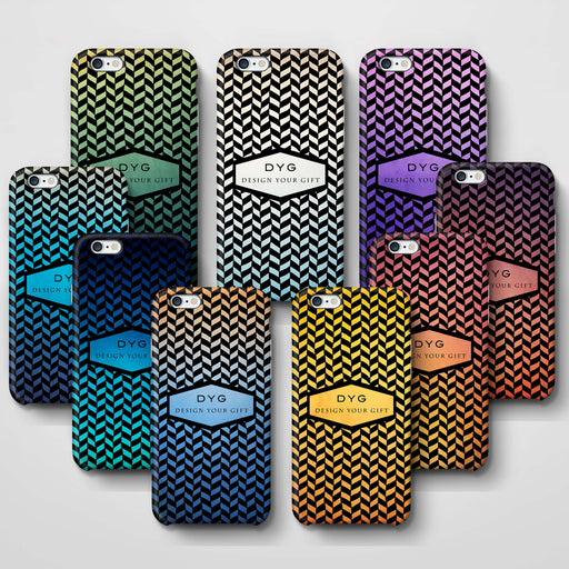 Geometric Hollow Design With Text iPhone 6 3D Custom Phone Case variants