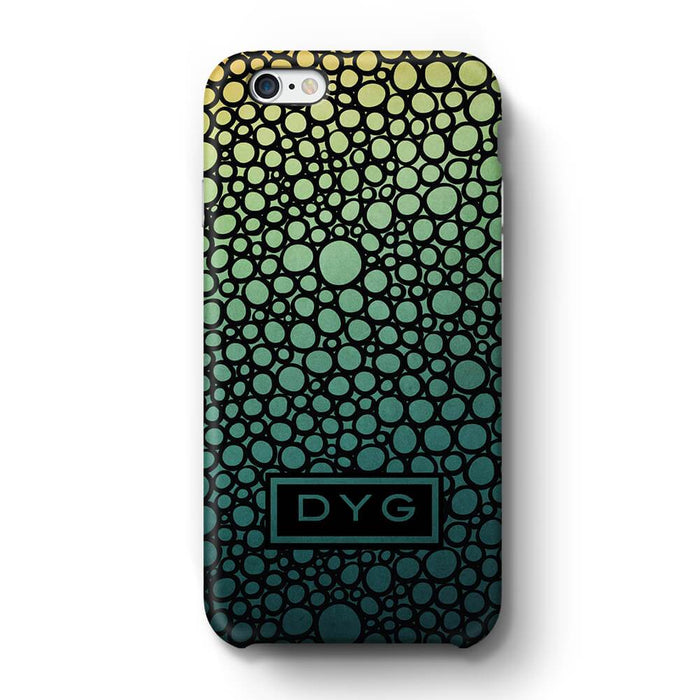 Bubbles Hollow with initials iPhone 6 3D Personalised Phone Case green lake