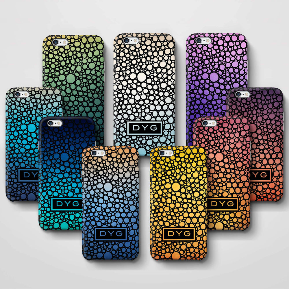Bubbles Hollow with initials iPhone 6 3D Personalised Phone Case variants