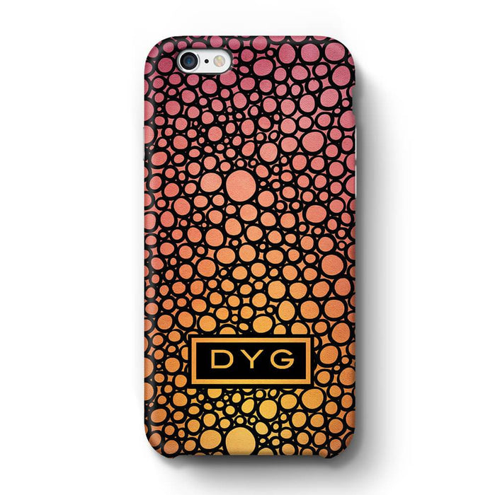 Bubbles Hollow with initials iPhone 6 3D Personalised Phone Case hot summer