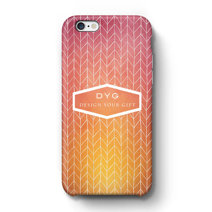 ZigZag Ombre With Text iPhone 6 3D Personalised Phone Case hot summer