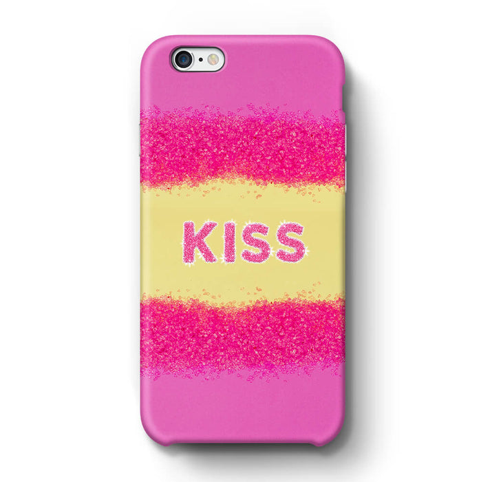 Glam Kiss Design with Name iPhone 6 3D Custom Phone Case