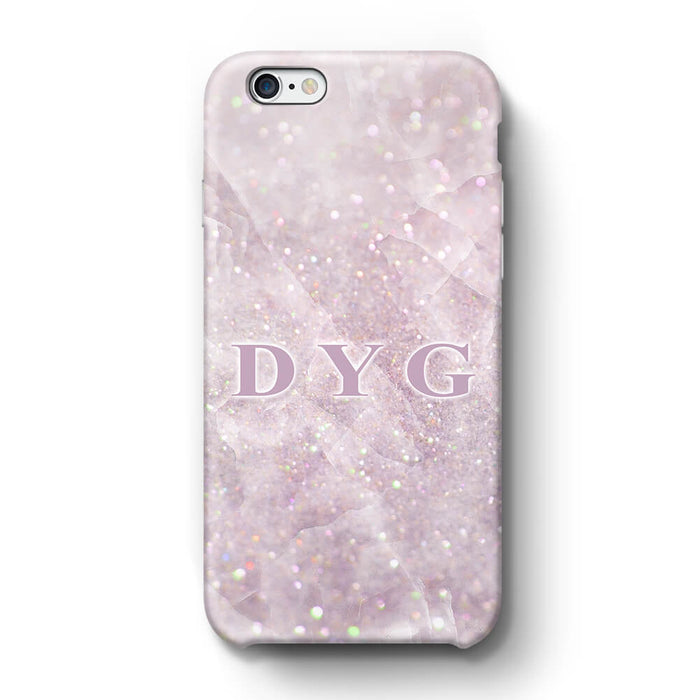 Luxury Glitter Marble With Initials iPhone 6 3D Custom Phone Case pink