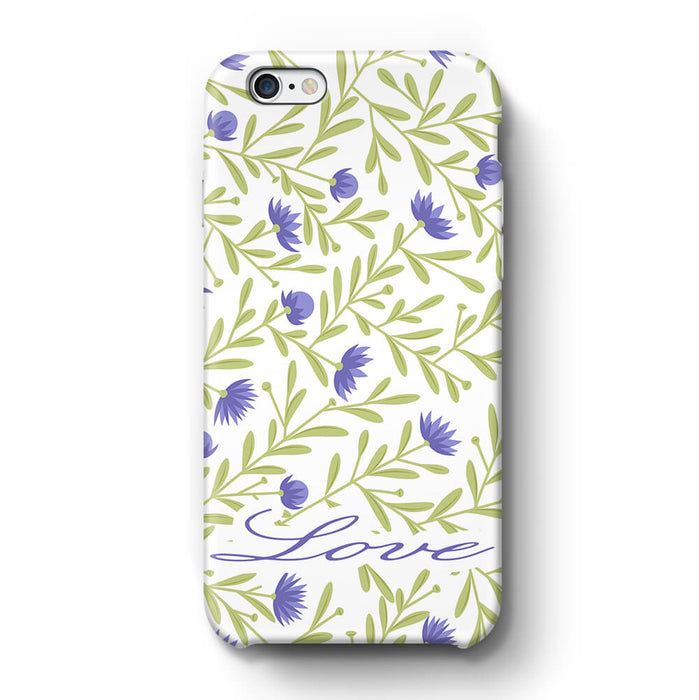 Floral Design with Name Phone 6+ 3D Custom Phone Case variant 9