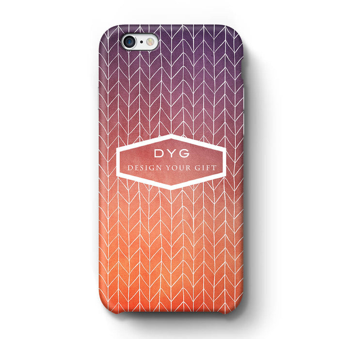 ZigZag Ombre With Text iPhone 6 3D Personalised Phone Case sunset