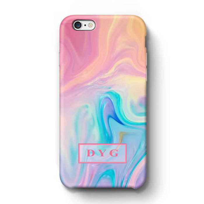 Liquid Marble With Initials iPhone 6 3D Personalised Phone Case unicorn