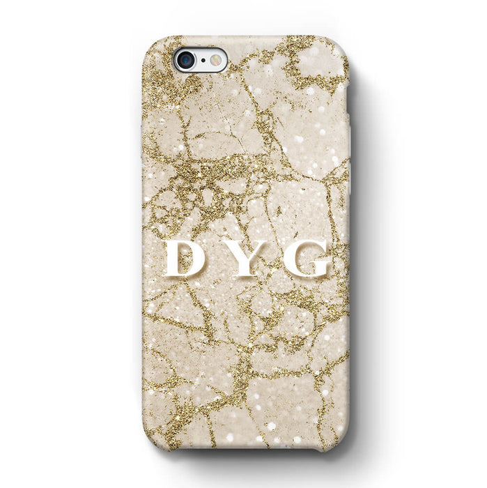 Pearl Marble With Initials iPhone 6 3D Custom Phone Case cinnamon