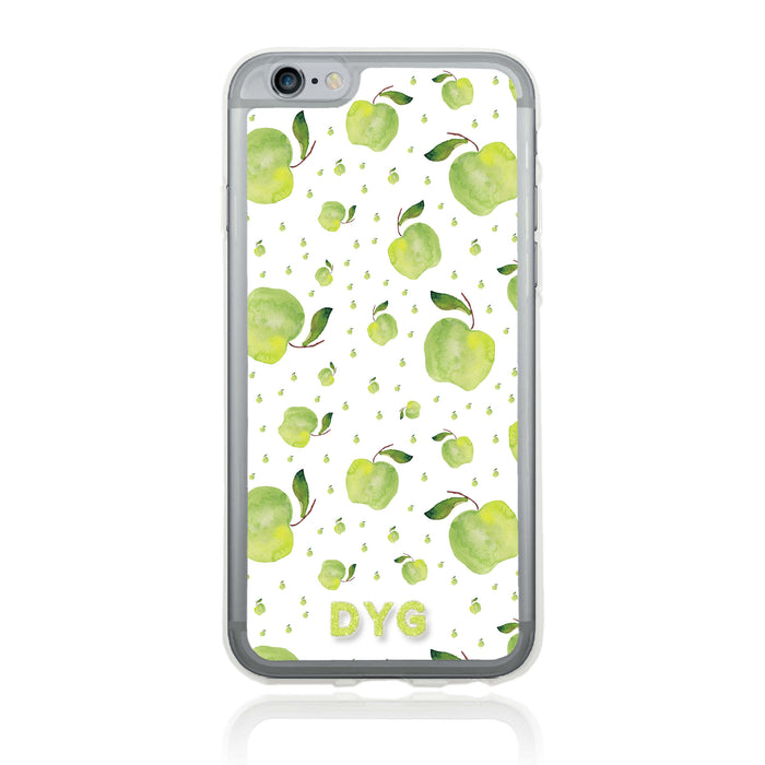 iPhone 6 Clear Phone Case | Initials Case | Fruits Pattern - apple design