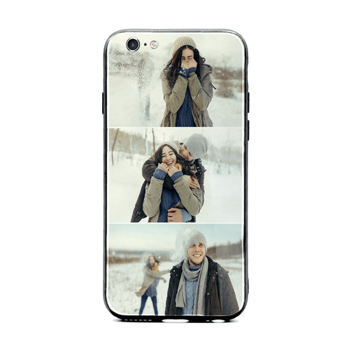 iPhone 6/6s 3 Photo collage Glass phone case
