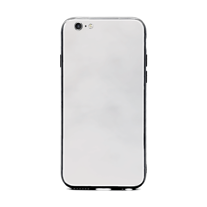 Blank iPhone 6/6s Glass phone case with Back rubber edges