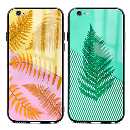 iphone 6/6s glass phone case with feria unique designs available in 2 design variants