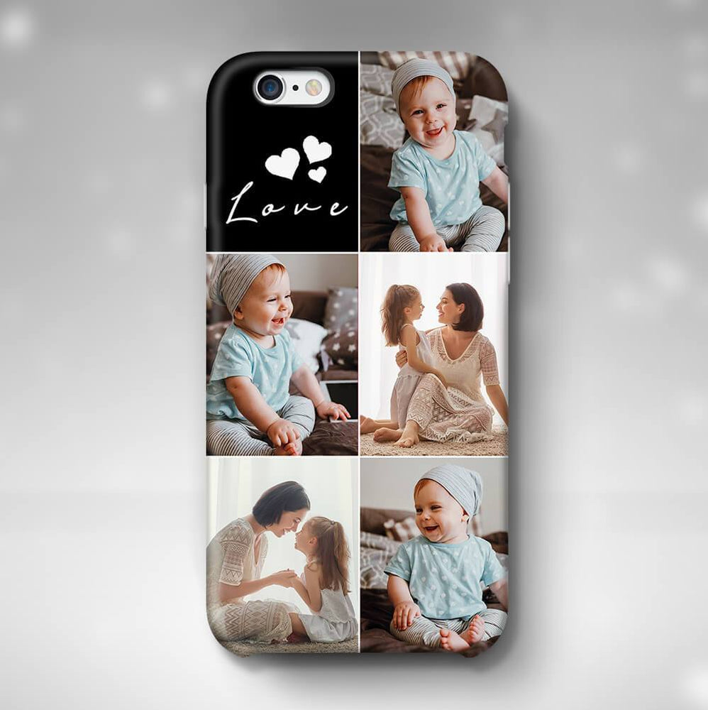 5 Photo Collage - iPhone 6+ 3D Personalised Phone Case design-your-gift.