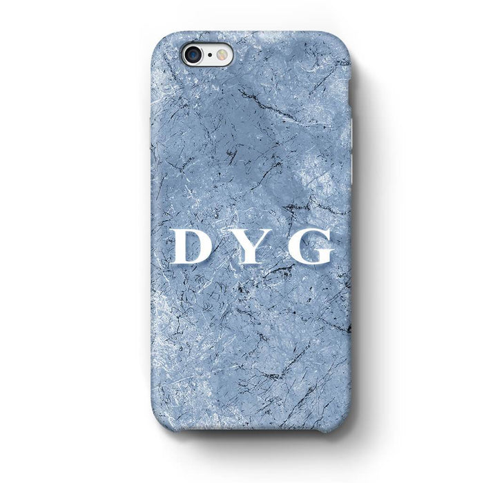 Blue Marble With Initials iPhone 6 Plus 3D Custom Phone Case blue cave