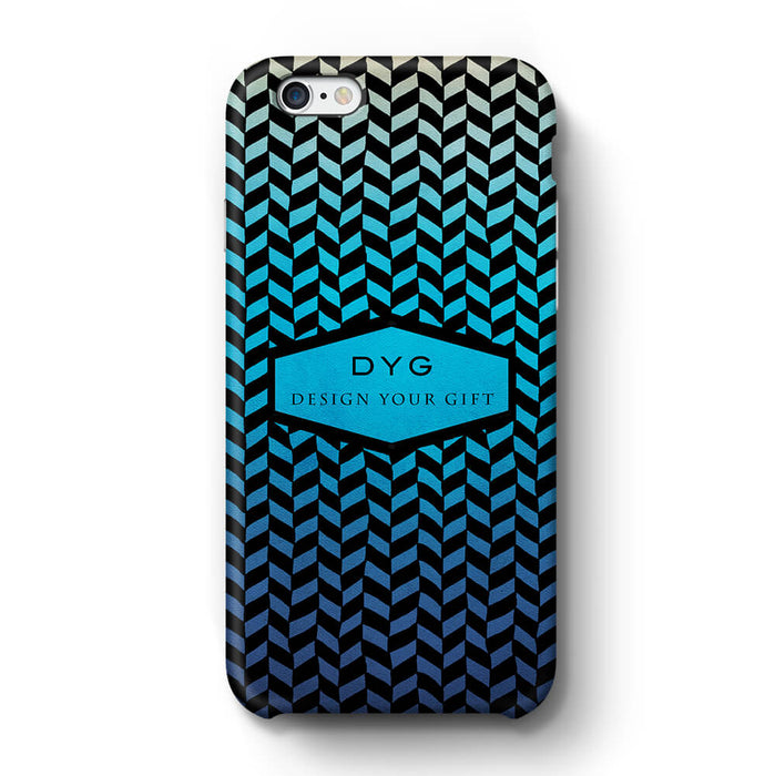 Geometric Hollow Design With Text iPhone 6+ 3D Custom Phone Case blue lagoon