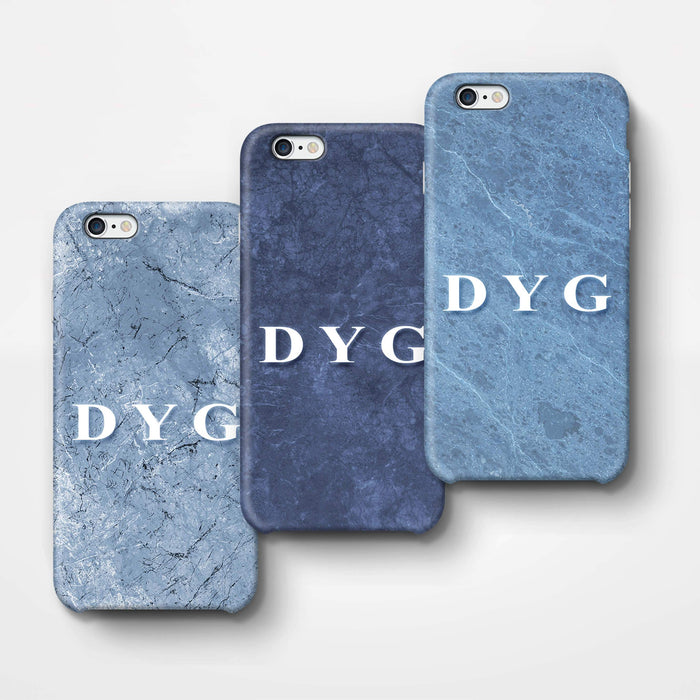 Blue Marble With Initials iPhone 6 Plus 3D Custom Phone Case 3 variants