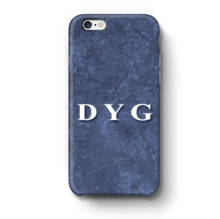 Blue Marble With Initials iPhone 6 Plus 3D Custom Phone Case blue noir