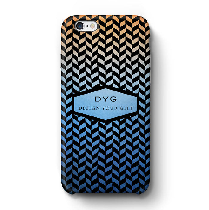 Geometric Hollow Design With Text iPhone 6+ 3D Custom Phone Case blue sky