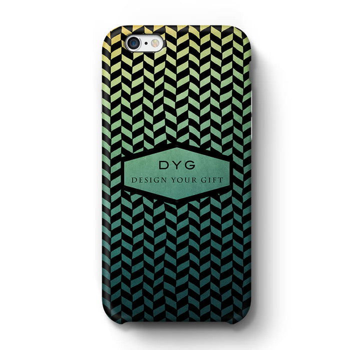 Geometric Hollow Design With Text iPhone 6+ 3D Custom Phone Case green lake