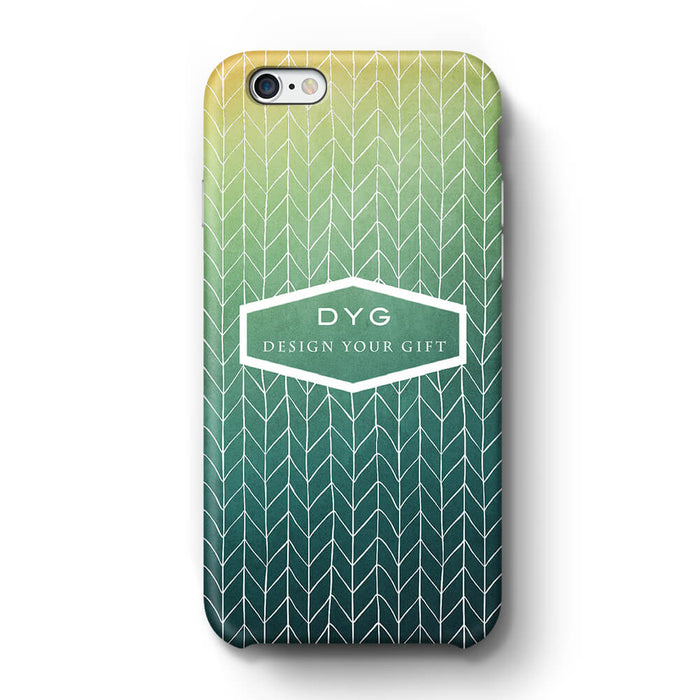 ZigZag Ombre With Text iPhone 6+ 3D Personalised Phone Case green lake