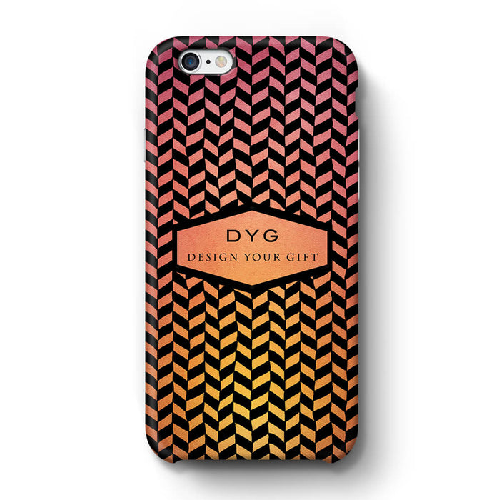 Geometric Hollow Design With Text iPhone 6+ 3D Custom Phone Case hot summer