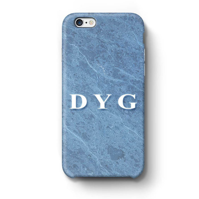 Blue Marble With Initials iPhone 6 Plus 3D Custom Phone Case ice blue