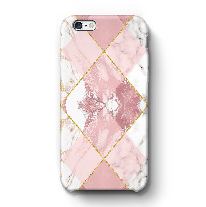 Rose Marble & Geometric Patterns iPhone 6+ 3D Phone Case design 1