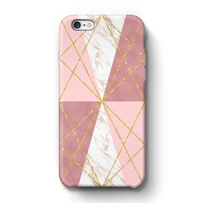 Rose Marble & Geometric Patterns iPhone 6+ 3D Phone Case design 2