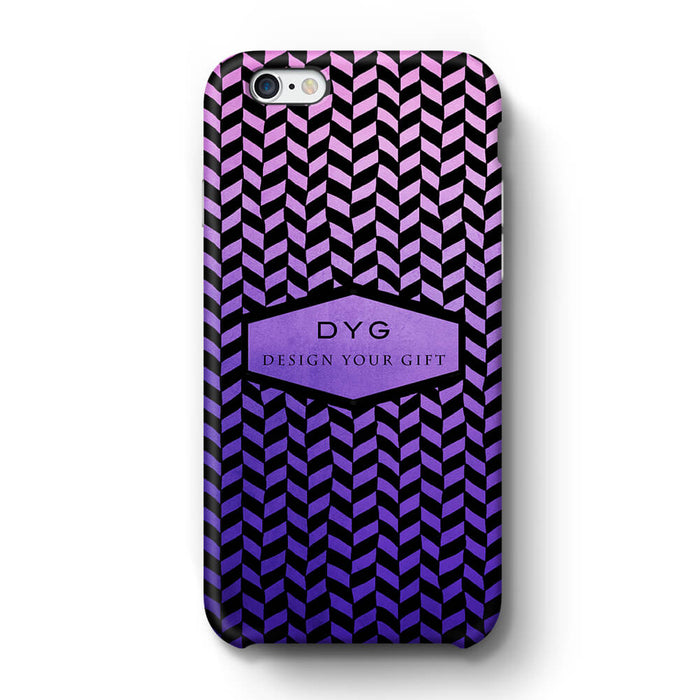 Geometric Hollow Design With Text iPhone 6+ 3D Custom Phone Case purple