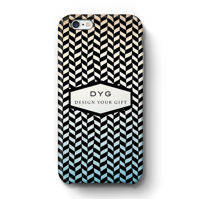 Geometric Hollow Design With Text iPhone 6+ 3D Custom Phone Case sky