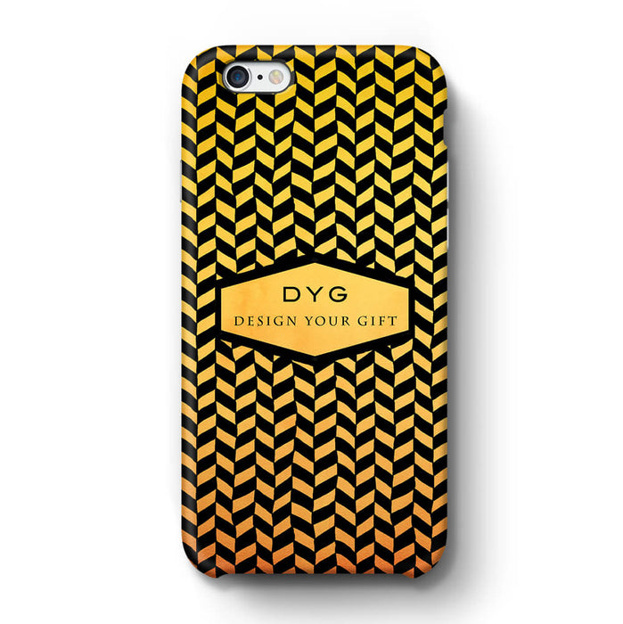 Geometric Hollow Design With Text iPhone 6+ 3D Custom Phone Case summer