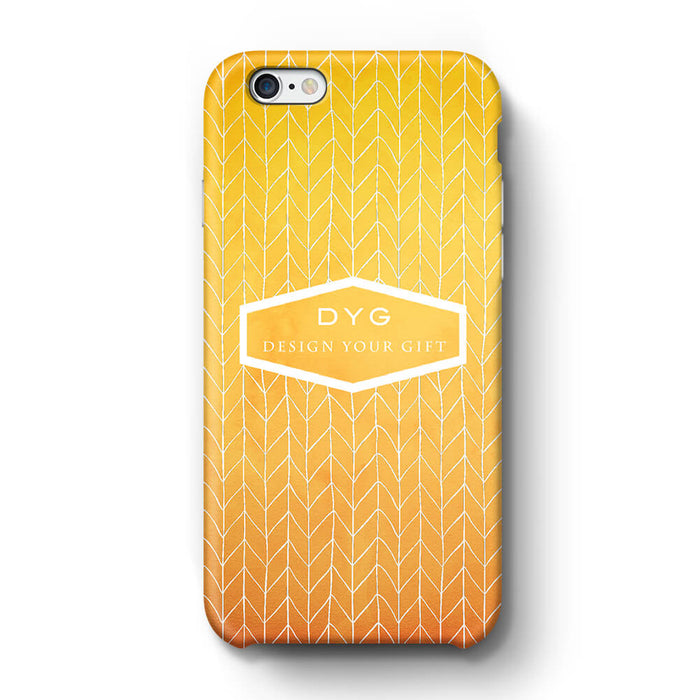 ZigZag Ombre With Text iPhone 6+ 3D Personalised Phone Case summer