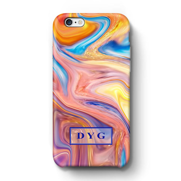 Liquid Marble With Initials iPhone 6 Plus 3D Personalised Phone Case summer vibe