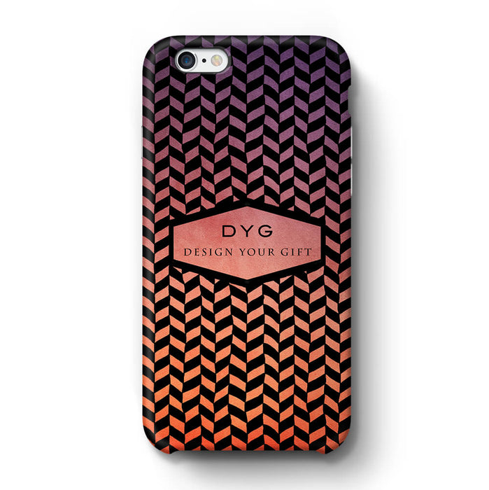 Geometric Hollow Design With Text iPhone 6+ 3D Custom Phone Case sunset
